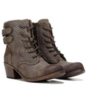 Roxy | Vargas Perforated Combat Ankle Boots